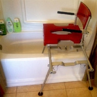 Go-Anywhere Stationary Tub and Shower Chair side view