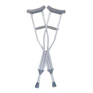 Child Adjustable Auxiliary Crutches - Quick-Fit