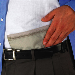 RFID Blocking Hidden Travel Wallet