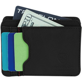 RFID Blocking Leather Cash & Card Wallet