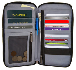 RFID Blocking Executive Organizer Passport Case