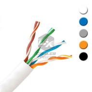 Bulk Cat5e Cable 1000ft UTP Solid Wire - (Gray \ Black \ White \ Blue \ Orange)