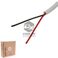 UN-Shielded 500FT 22/2 White Security Wire Burglar Alarm Cable