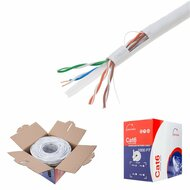 Bulk Cat6 Cable 1000ft UTP Solid Wire - (Black \ Gray \ White \ Blue \ Orange)