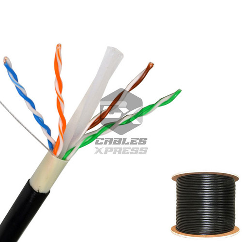 CAT6 OUTDOOR 1000FT Solid Bulk Cable Direct Burial Lan Ethernet - ( Unshielded)
