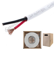 Bulk White 14 AWG CL2 Speaker Wire Cable Audio 14/2 In Wall