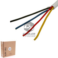 UN-Shielded 500FT 22/4 White Security Wire Burglar Alarm Cable - (Stranded Conductor)