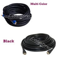 25FT HDMI Cable v1.4 Black / Multi Color Gold Plated for FHD 3D