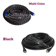 50FT HDMI Cable v1.4 Black / Multi Color Gold Plated for FHD 3D