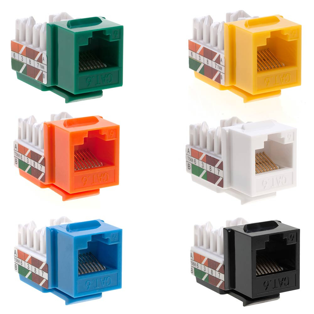 Rj45 Keystone Jack For Cat6 Cable Network Ethernet Punchdown