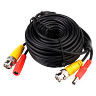 Black Security Camera Cable CCTV Video Power Wire BNC Cord (10FT - 100FT)