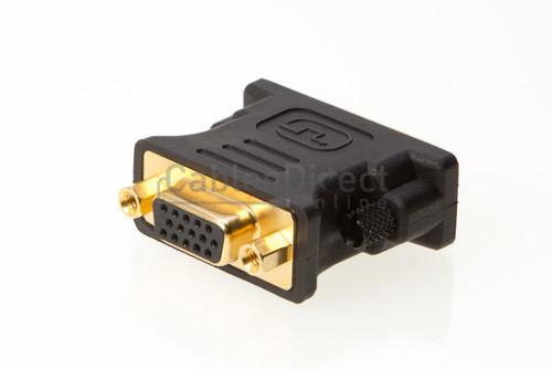 DVI-I Dual Link Male to VGA (HD15) Female Adapter
