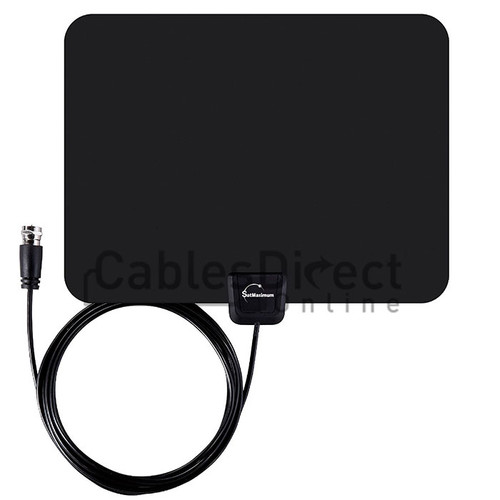 Multi-Directional Long Range HDTV Indoor Antenna black