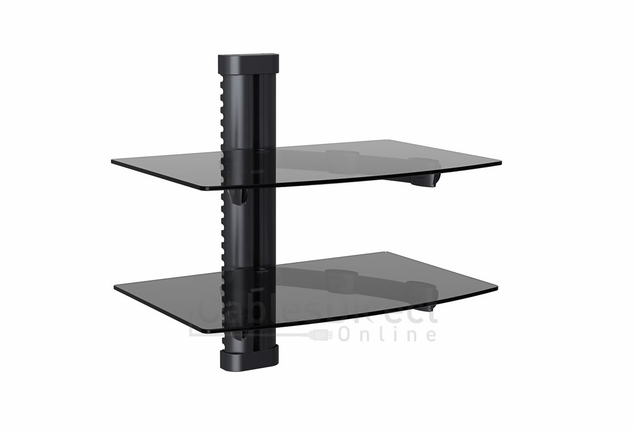 Dual Av Shelf Wall Mount Cable Managent System Up To 22ibs W14 17 X D9 84 X H0 20 Cables Direct Online