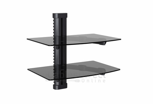 Dual AV Shelf Wall Mount