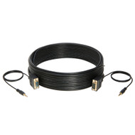 Cables Direct Online 25FT SVGA + Audio Monitor Cable, Male to Male 1080P Super VGA Display Cord for PC Projector Laptop TV