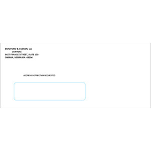 #10 Window Envelope Black Ink