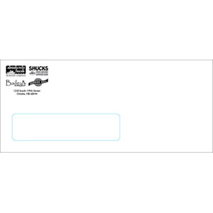 #9 Window Envelope Black Ink