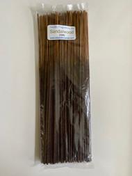 """Sandalwood 11"""" Incense Sticks, 100/pack"""