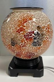 Mosaic Globe Oil Burner, Earth Tones