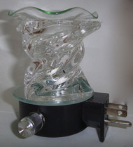 Twisted Glass Night Light - Clear