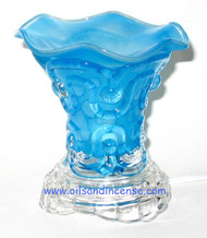 Solid Color Glass Electric Oil Burner - Blue