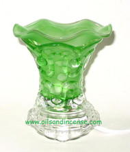 Solid Color Glass Electric Oil Burner - Green