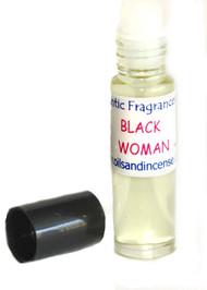 Black Woman type 1/3 oz. roll-on bottle