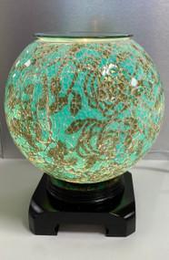 Big Round Oil Burner, Turquoise