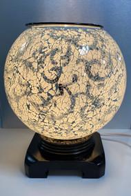 Mosaic Globe Oil Burner, White