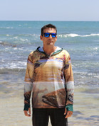 Adults Sun Safe UV Trout HOODIE