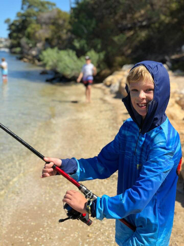 Kids being Sun Safe in our unique zippable hoodie.