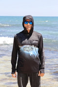 Adults Sun Safe UV Black 'GT' HOODIE