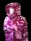 Ladies Pink Camo Hoodie Full Zipped