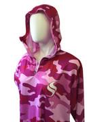Ladies Pink Camo Hoodie