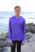 Kids Sun Safe fishing Shirt Purple Hoodie