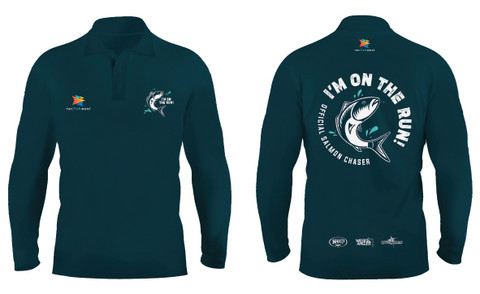 Get 'On the Run' with your Recfishwest Official Salmon Fishing Shirt. Limited edition!