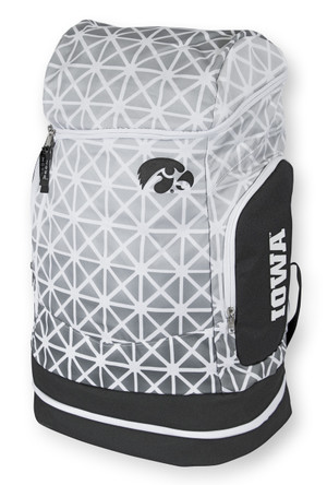 Iowa Hawkeyes Large White & Black Sports Backpack - Ombre