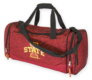 Iowa State Cyclones Cardinal & Black Duffel Bag - Kenneth