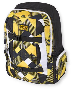 Iowa Hawkeyes Black & Gold Pattern Backpack - Kelly
