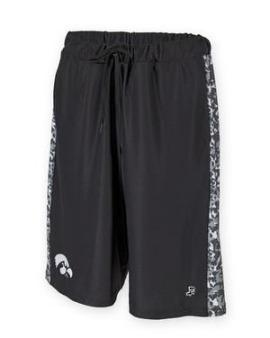 Iowa Hawkeyes Black & White Camo Shorts - Dillard