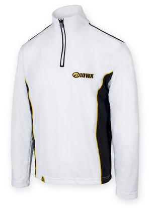 Iowa Hawkeyes Black & White Performance Men's Shirt - Chrome
