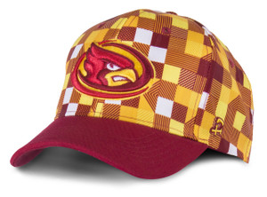 Iowa State Cardinal & Gold Checker Pattern Cap - Checkers