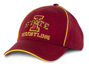 Iowa State Cardinal & Gold Wrestling Cap - Snyder