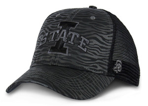 Iowa State Black Standard Mesh Animal Print Cap - Sadie