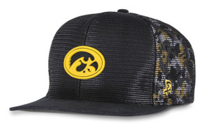 Iowa Hawkeyes Black and Gold Hip Hop Hat - Boe