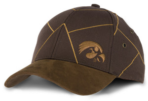 Iowa Hawkeyes Men's Canvas & Suede Hat - Caramel