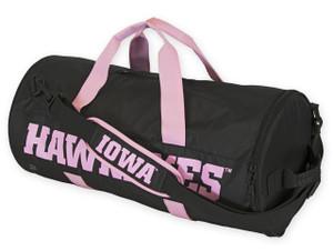 Iowa Hawkeyes Black & Pink Duffel Bag - Katelyn