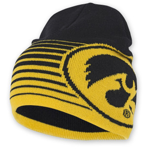 Iowa Hawkeyes Black & Gold Acrylic Knit Beanie - Kevin