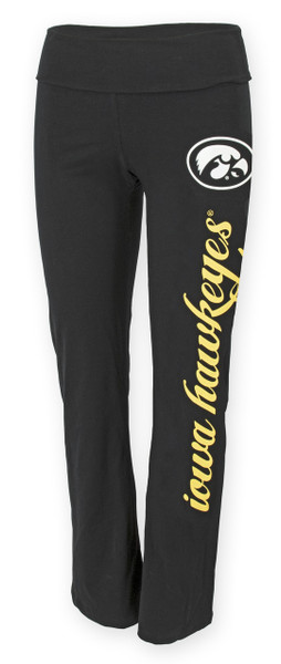 Iowa Hawkeyes Women's Black Yoga Pants - Ashley